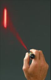laser flare in use